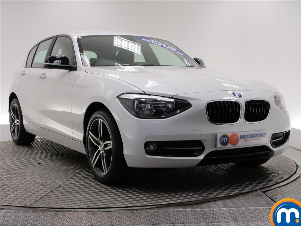 used or nearly new bmw 1 series 114d sport 5dr white for sale in burnley motorpoint. Black Bedroom Furniture Sets. Home Design Ideas