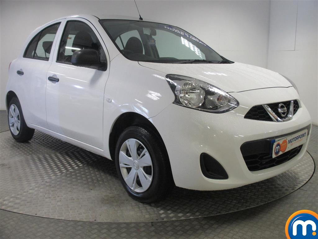 used or nearly new nissan micra 1 2 visia 5dr white for. Black Bedroom Furniture Sets. Home Design Ideas