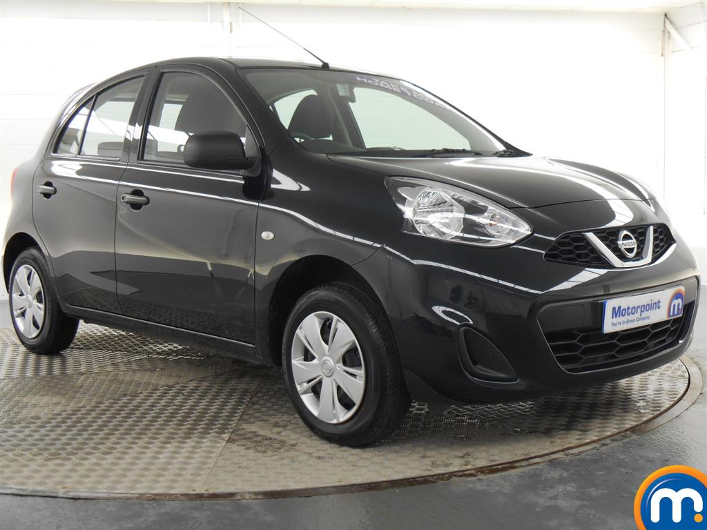used or nearly new nissan micra 1 2 visia 5dr black for. Black Bedroom Furniture Sets. Home Design Ideas