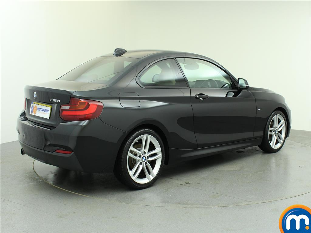 used or nearly new bmw 2 series 218d m sport coupe nav leather black for sale in birtley. Black Bedroom Furniture Sets. Home Design Ideas